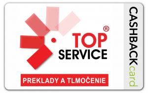 Cashbackcard TOPSERVICE preklady a tlmočenie
